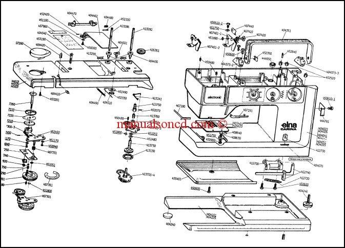 Elna Carina Electronic And Elna 500 Electronic Parts List