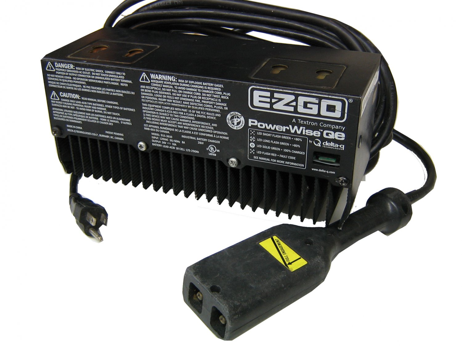 ezgo golf cart 36 volt battery wiring diagram mercedes atego ecu ez-go 915-3610 charger 36v powerwise qe g3610, with one year warranty, g3610