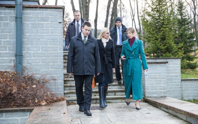 President Kersti Kaljulaid called for the National Defence Council to convene on Friday. Nov. 10, 2017.