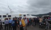 Điều 3 tàu lớn đưa du khách bị mắc kẹt rời Phú Quốc