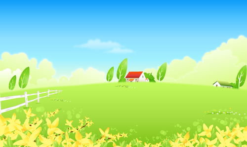Cute Tom And Jerry Hd Wallpaper Beautiful Cartoon Landscapes Vector Set 12 Free Free