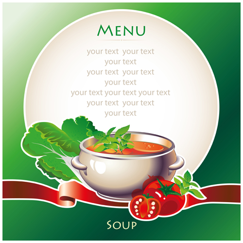 Creative Soup Menu Cover Vector Free Free Download