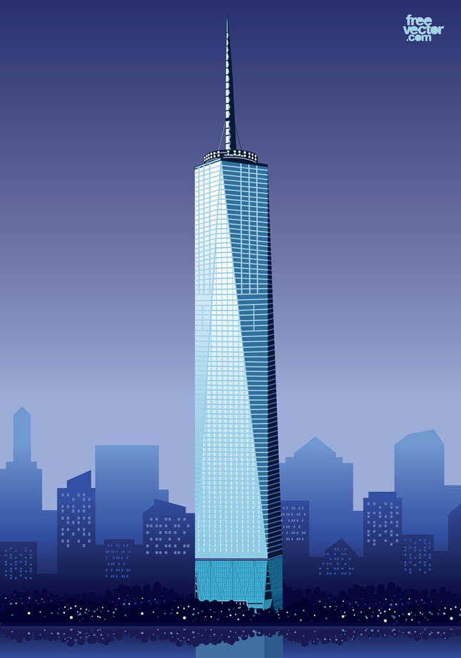 One World Trade Center vector free  Free download