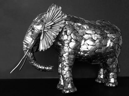 Скульптуры животных из столовых приборов искусство, скульптуры, столовые приборы