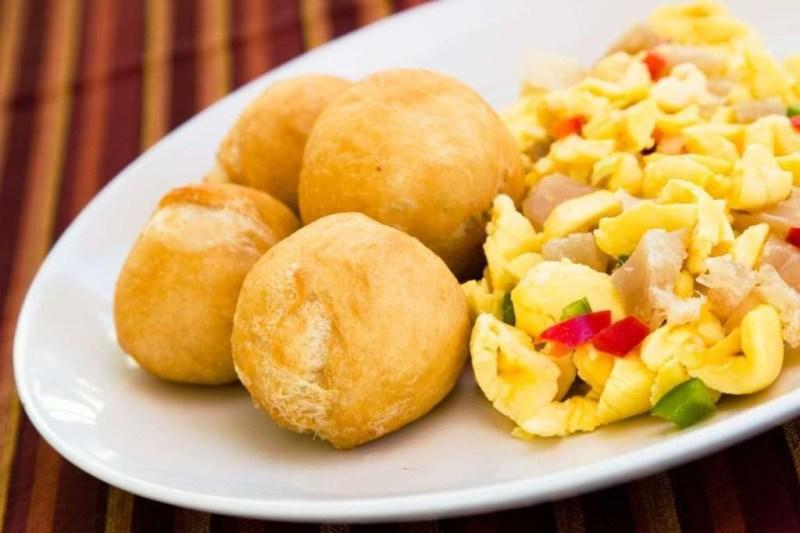 Аки и солёная рыба (Ямайка) блюдо, еда, туризм