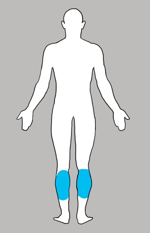 10. Икроножная мышца боль, люди, тело