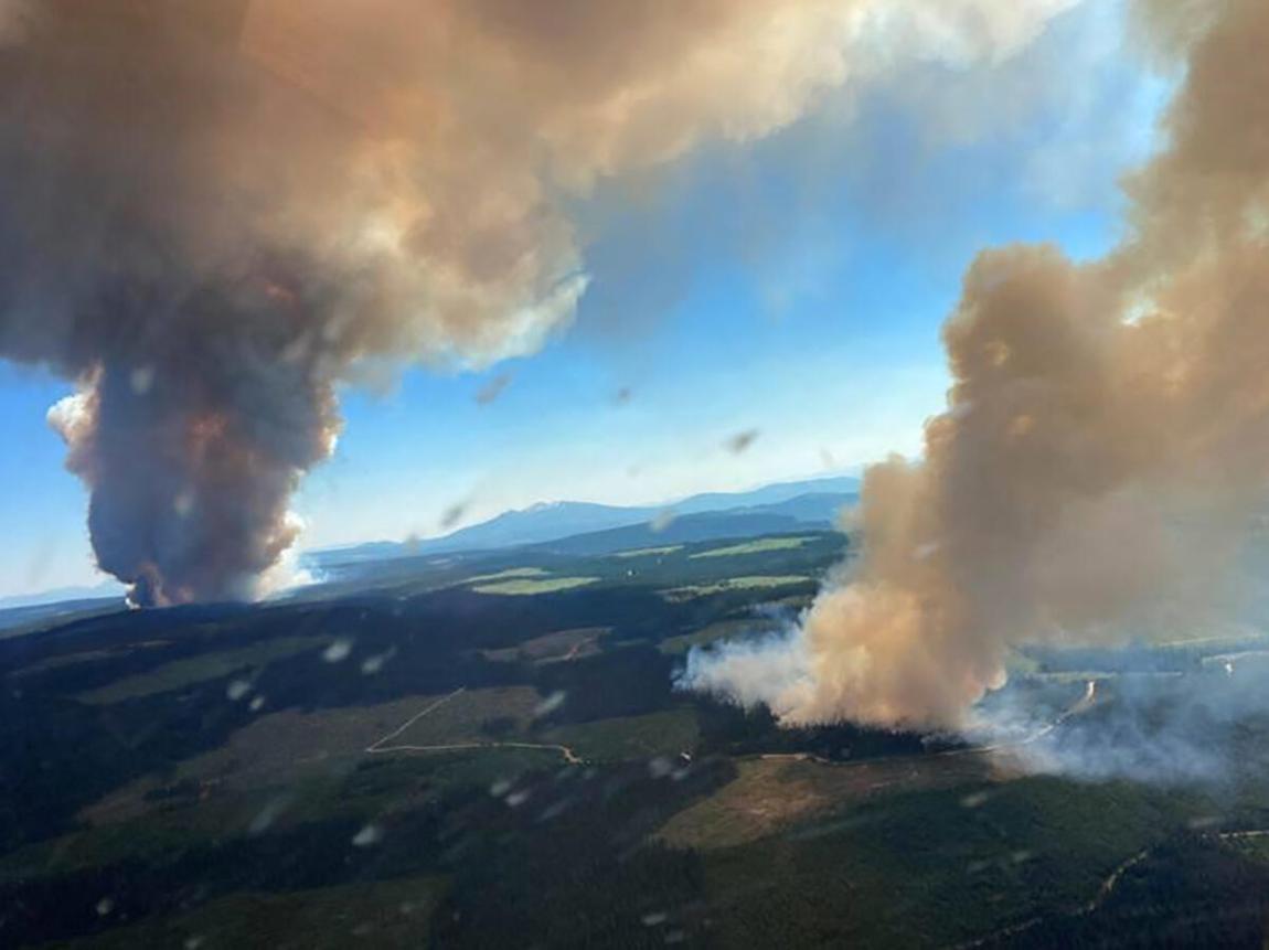 The Long Loch Fire devastates British Columbia on June 30, 2021.