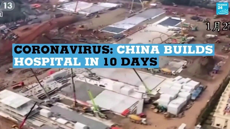 Coronavirus: China builds new hospital in just 10 days