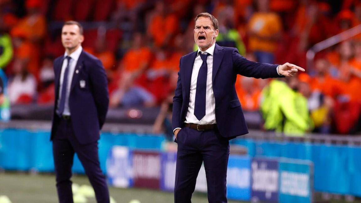 Frank de Boer, coach of the Netherlands, during the match against Ukraine.