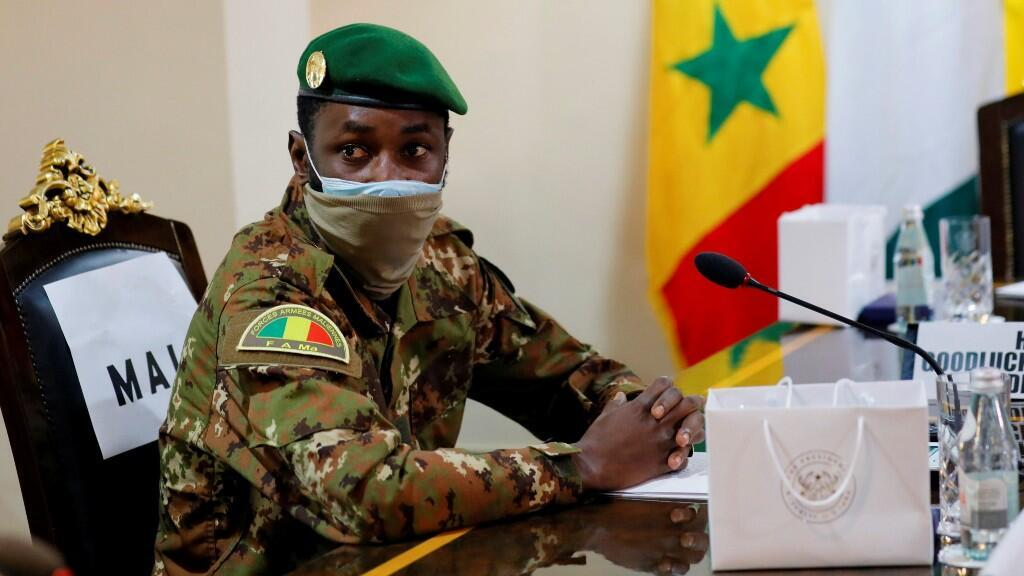 """File photo of Colonel Assimi Goïta, who will be investigated on Monday, June 7, as """"president of the transition"""" in Bamako."""