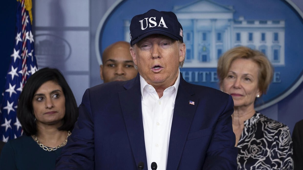 Trump tests negative for coronavirus as US extends travel ban to ...
