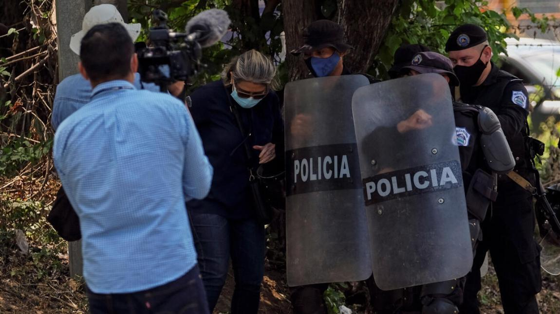 Nicaraguan police entered the home of opposition leader Cristiana Chamorro, after prosecutors called for her arrest for money laundering and other crimes, Nicaragua, on June 2, 2021.