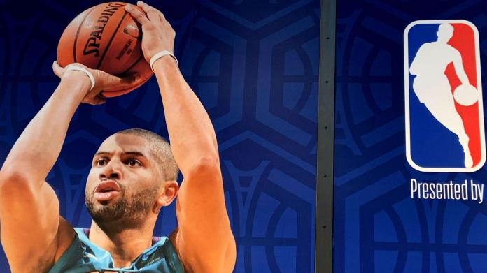 Nicolas Batum, the only Frenchman present on the floor of the NBA Paris Game 2020.
