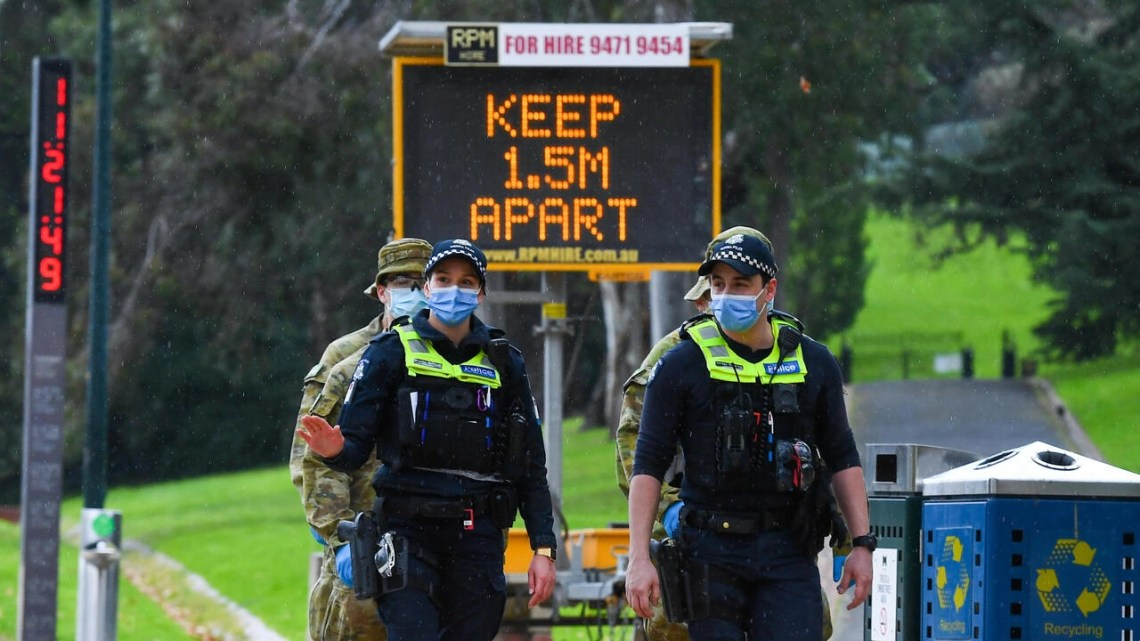 An outbreak in Melbourne, Australia's second-biggest city, has seen hundreds of new cases recorded daily in recent weeks