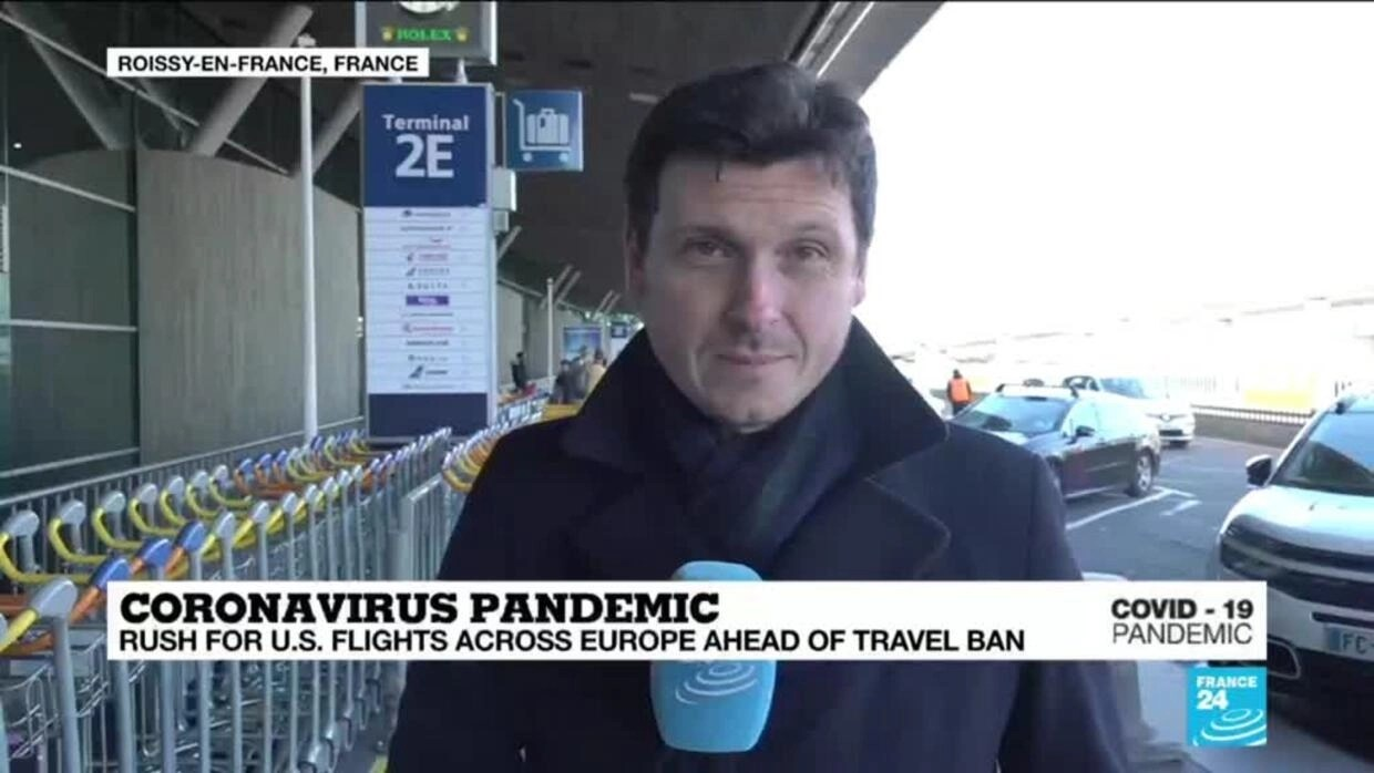Coronavirus Pandemic: Rush for US flights across Europe ahead of ...