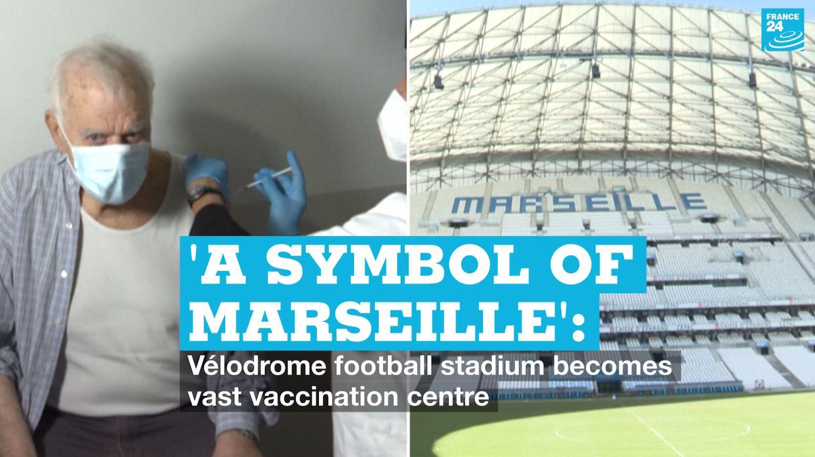 It is hoped up to 2,000 people a day will soon be able to get vaccinated against Covid-19 at a new vaccination centre inside  Marseille's Vélodrome stadium.