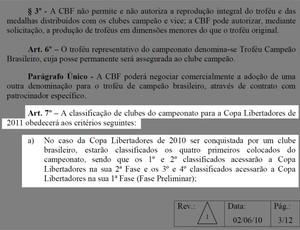 Regulamento Brasileirão