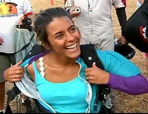 Para-atleta Letícia Lucas campeã de natação (Foto: Reprodução)