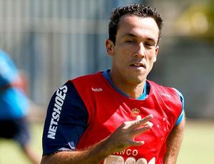 Thiago Ribeiro no treino do Cruzeiro (Foto: Washington Alves / VIPCOMM)