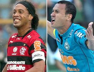 Montagem - Ronaldinho e Jéci (Foto: Editoria de Arte / Globoesporte.com)