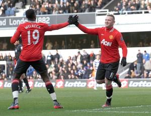 rooney manchester united gol Queen parks rangers (Foto: Agência Reuters)