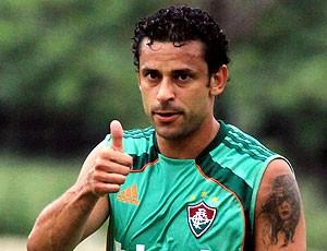 Fred no treino do Fluminense (Foto: Agência Photocâmera)