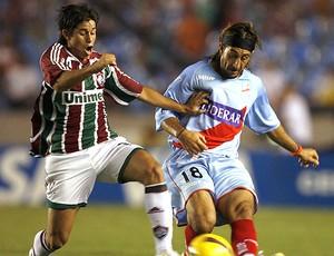 Conca na partida do Fluminense contra o Arsenal-Arg em 2008 (Foto: EFE)