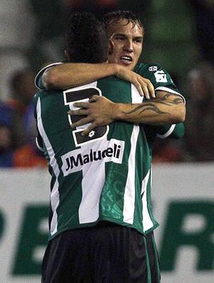 gol coritiba x vasco (Foto: Cezar Loureiro/Globo)