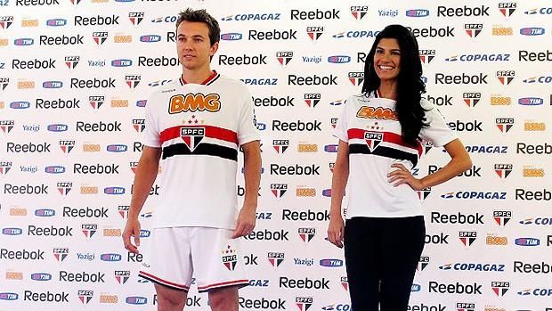 apresentação do novo uniforme do São Paulo (Foto: Julyana Travaglia / GLOBOESPORTE.COM)