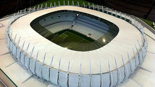 Maquete da Arena Castelão (Foto: Diego Morais / Globoesporte.com)