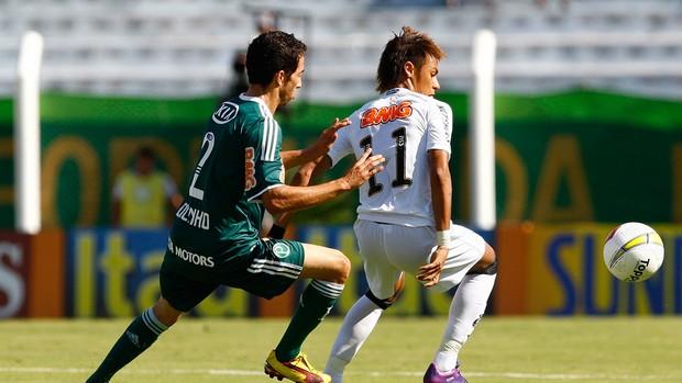 Cicinho Palmeiras Neymar Santos (Foto: Ricardo Saibun / Ag. Estado)