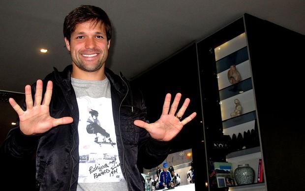 Diego comemora 10 anos de carreira (Foto: Cahê Mota / GLOBOESPORTE.COM)