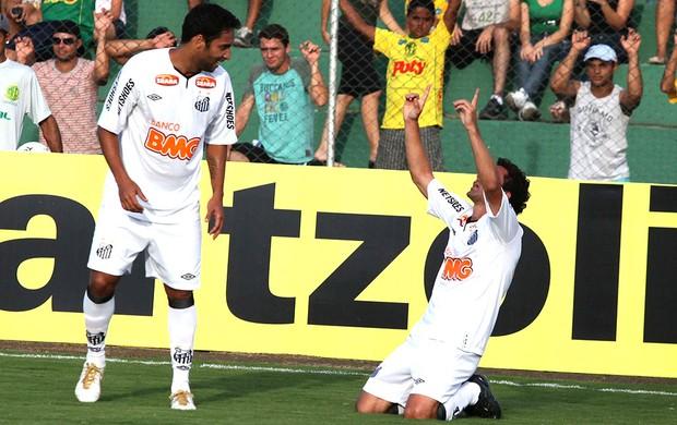 Juan comemora gol do Santos contra o Mirassol (Foto: Ag. Estado)