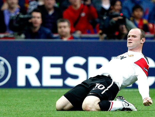 Rooney comemora gol do Manchester United contra o Barcelona na final (Foto: Reuters)