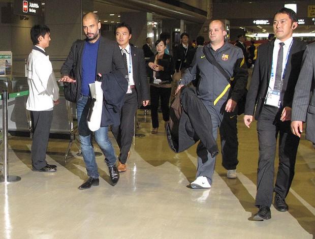 Chegada do Barcelona no Aeroporto (Foto: Thiago Dias/GLOBOESPORTE.COM)