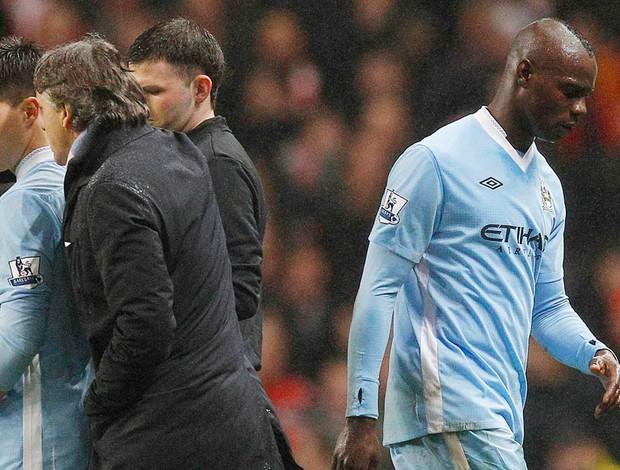 Mario Balotelli  Manchester City x liverpool (Foto: Reuters)