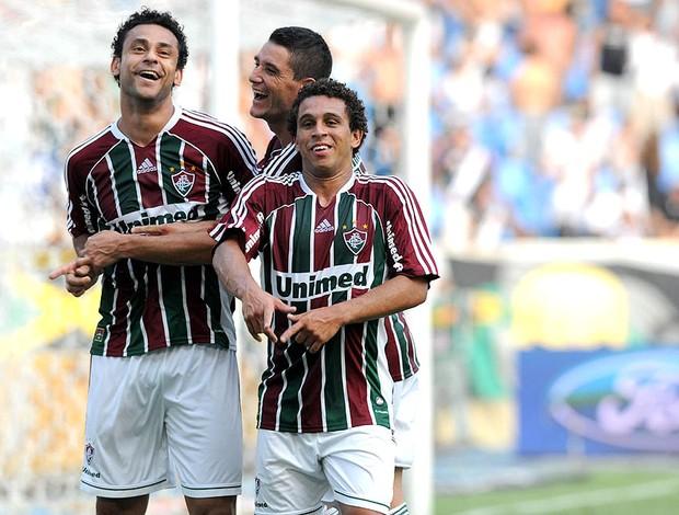 Fred thiago neves wellington nem fluminense gol vasco (Foto: andré Durão / Globoesporte.com)
