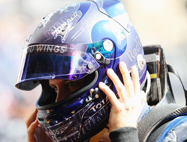 Vettel novo capacete treino Mônaco