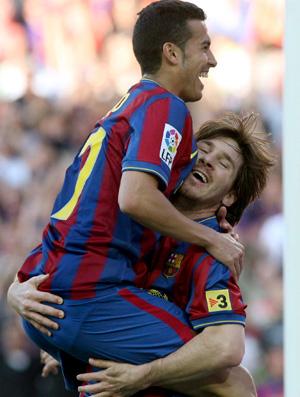 messi comemora, barcelona x valladolid