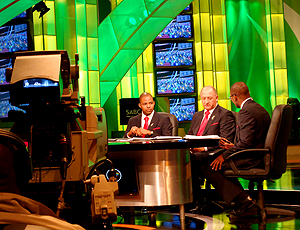 Felipão no estúdio da SABC