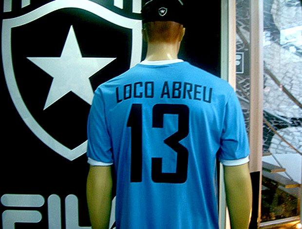 loco abreu Camisa celeste do Botafogo