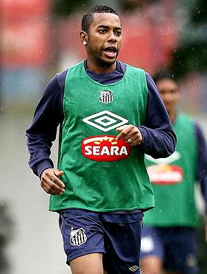 Robinho treino Santos