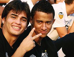 Renan Mota e Tiago Alves, atacantes da base do Santos