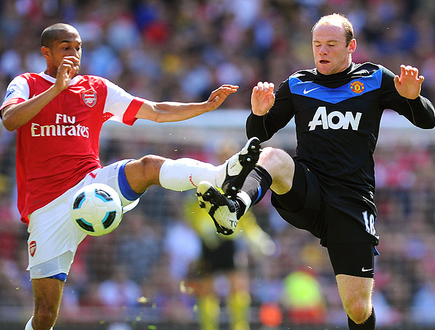 Rooney na partida do Manchester United contra o Arsenal (Foto: Getty Images)