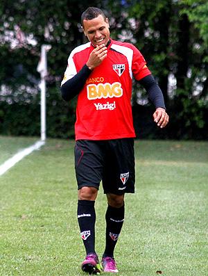 Luis Fabiano no treino do São Paulo (Foto: Ag. Estado)
