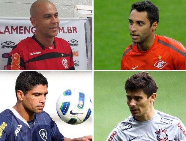Montagem Janela de Transferência  Alex Silva, Ibson, Renato e Ale (Foto: Montagem sobre foto da Ag. Estado)