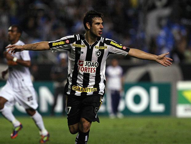herrera comemora gol do botafogo sobre o atlético-mg (Foto: Fábio Castro/AGIF)