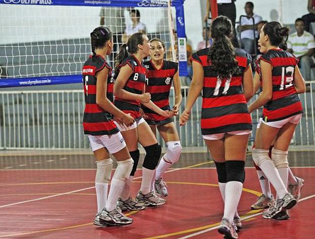 Sasha na partida de vôlei do Flamengo (Foto: Reprodução / Facebook)