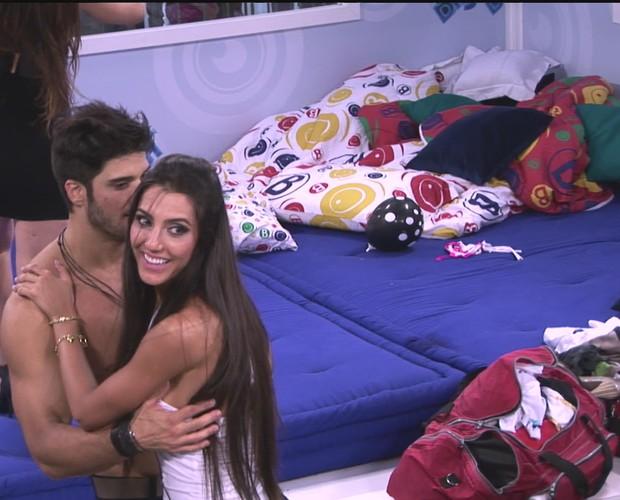 BBB às 19h18m do dia 09/01. (Foto: Big Brother Brasil)