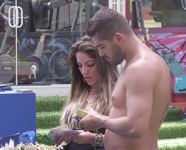 BBB às 11h40m do dia 14/01. (Foto: Big Brother Brasil)